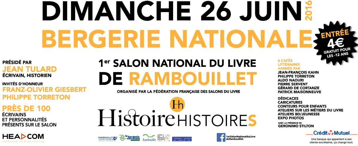 1er salon national du livre de rambouillet for Salon rambouillet